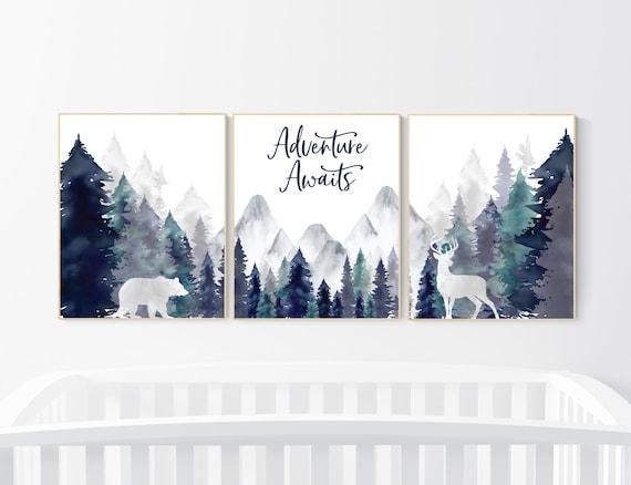 Adventure Nursery Lotus Nursery Prints