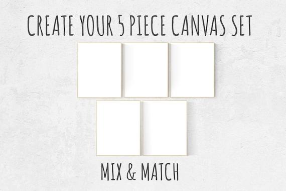 Choose Any 5 prints, Mix and match! Create your canvas set, Custom nursery decor, canvas nursery prints, set of 5 canvas prints, canvas