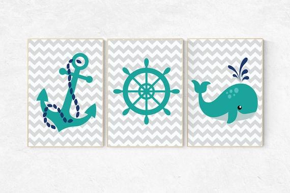 Nautical nursery prints, nursery decor nautical, whale nursery, navy nursery decor, navy teal, Nautical decor, baby boy nursery themes