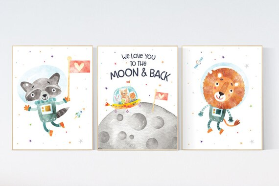 Nursery decor boy space, Space wall art, space print for nursery, space nursery theme, outer space nursery art, nursery prints boy space