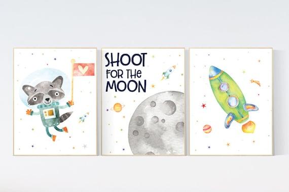 Nursery decor boy space, space wall art nursery, Space wall art, animal prints, gender neutral, space nursery theme, outer space nursery art