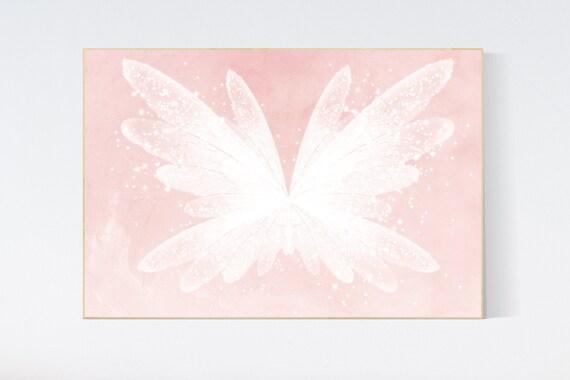 Nursery decor girl butterfly, blush, blush pink, Butterfly Nursery Art, girls room, butterfly prints, Butterfly Art, blush pink, neutral