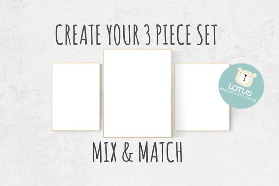 Choose Any 3 prints, Mix and match! Custom nursery decor, Custom nursery art, set of 3 prints, nursery decor girl, nursery decor boy, prints