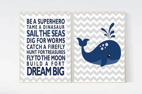 Navy nursery decor, Nautical nursery prints, boys rules, Nautical decor, whale nursery decor, navy nursery decor nursery decor boy kids room