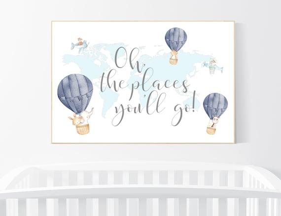 Plane nursery, Nursery decor boy nursery, animal prints, travel theme nursery, planes nursery wall art, boys room decor, baby room decor