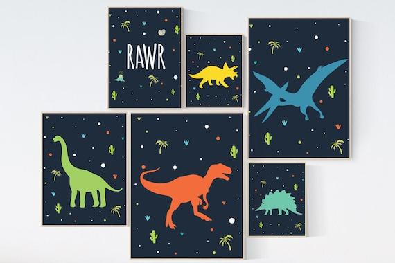 Boys room decor dinosaur, Nursery decor boy dinosaur, kids room decor dinosaur, dinosaur room decor, dinosaur prints, dinosaur nursery decor