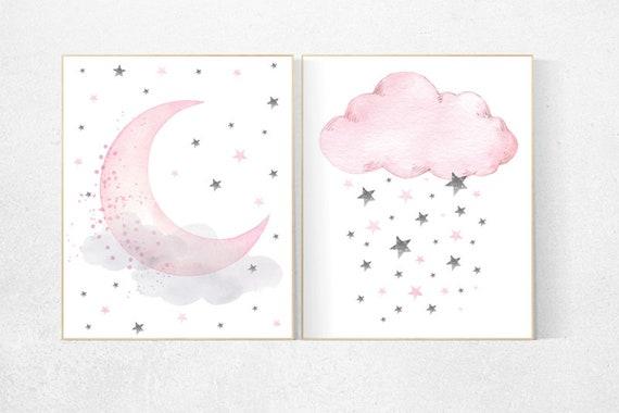 Nursery decor girl nursery wall art girl pink pink nursery | Etsy