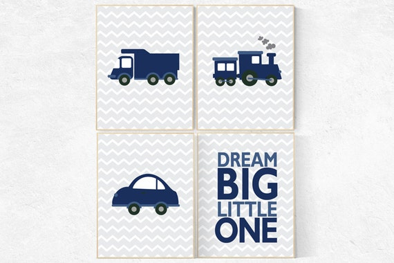 Nursery decor boys car, car nursery, vehicles, dream big little one, navy nursery, transportation, boy nursery ideas, car nursery, cars