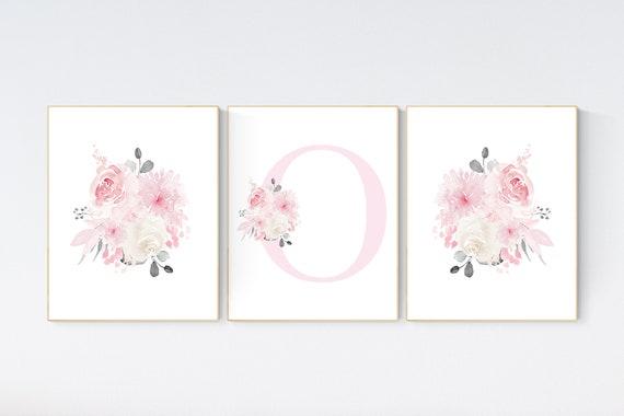 Nursery decor girl pink, nursery decor flower, nursery decor girl floral, flower nursery, girl nursery wall art, pink nursery, boho nursery