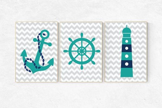 Nautical nursery prints, nursery decor nautical, navy nursery decor, navy teal, Nautical decor, baby boy nursery themes, nursery baby boy