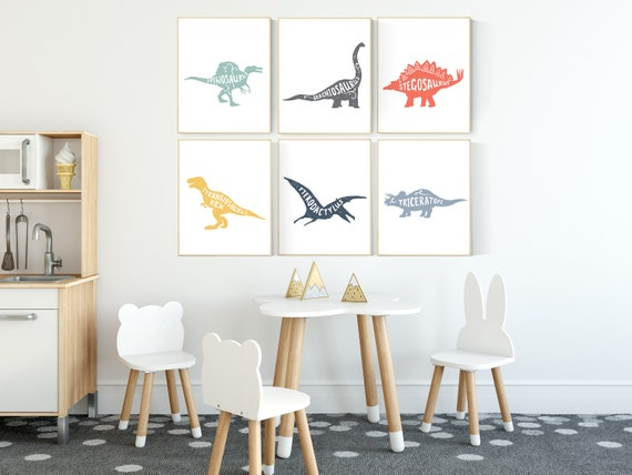 Dinosaur wall art decor, Nursery decor boy dinosaur, kids room decor dinosaur, dino nursery, dinosaur prints, boy nursery bedroom, children