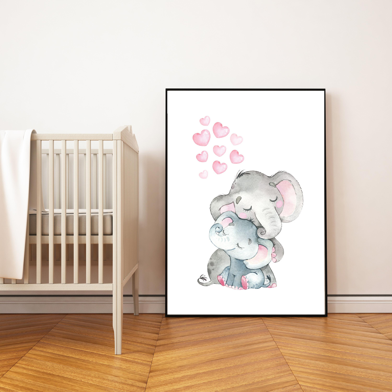 Nursery decor elephant, nursery wall art elephant, nursery ...