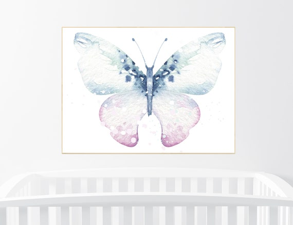 Nursery decor girl butterfly, pink mint butterfly, Butterfly Nursery Art, girls room, butterfly prints, Butterfly Art, pink nursery wall art