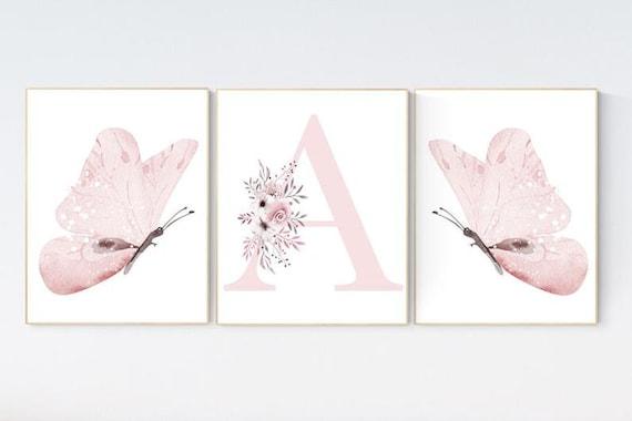 CANVAS LISTING: Nursery decor girl butterflies, Butterfly Nursery Art, Girl Nursery Art, Butterfly Nursery Decor for Baby Girl, Butterfly