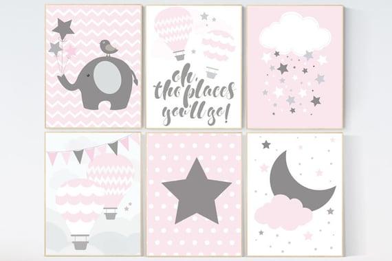 CUSTOMIZE! Nursery decor girl, Baby girl nursery decor, nursery decor elephant, Pink Gray Nurser, Baby Girl Nursery Decor, girls room decor