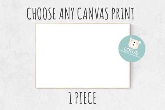 Choose Any print for canvas, custom nursery decor, canvas nursery prints, 1 piece canvas print, canvas nursery decor