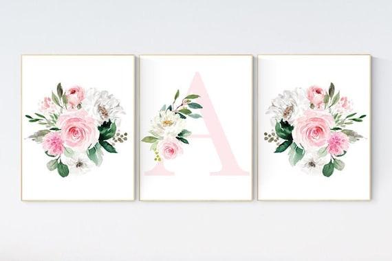 CUSTOM LISTING: Canvas Prints, Nursery decor girl pink, nursery decor flower, nursery decor girl floral, flower nursery, girl nursery art