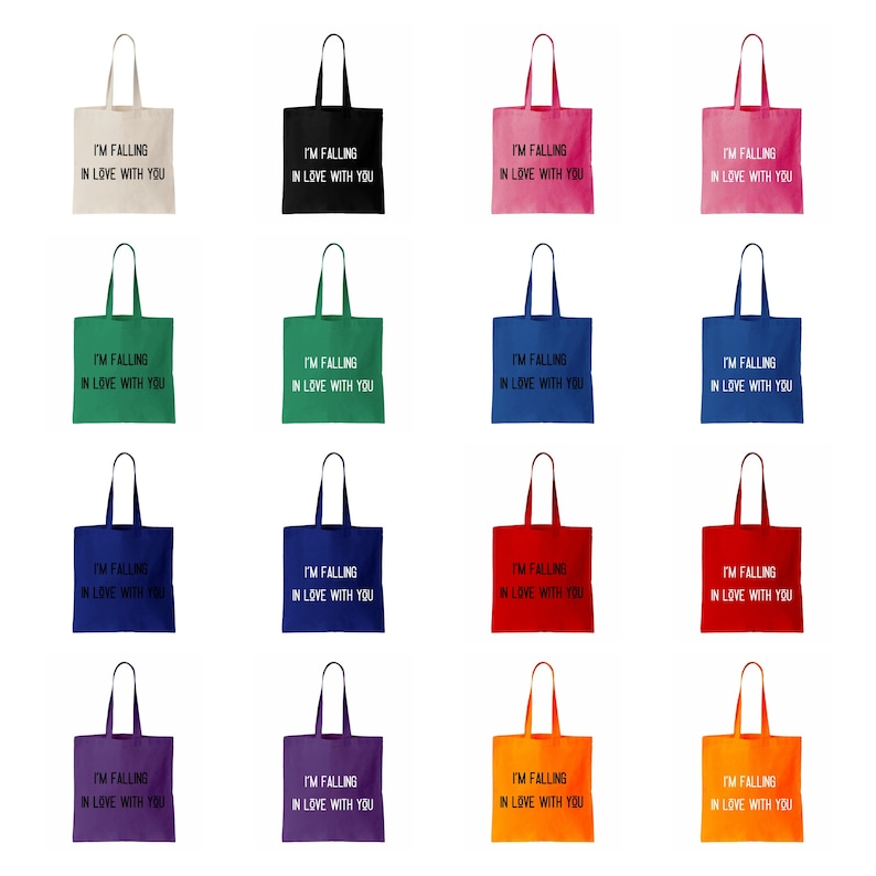 Shopping Grocery Bag Beach Bag The Bachelor TV Cotton Canvas Tote Bag Book Bag Re-Usable I/'m Falling In Love With You Eco Friendly