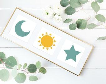 Sun, Moon & Star set of 3 - Printables