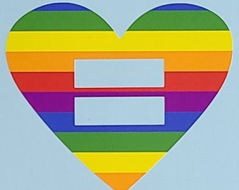 Love and Equality Permanent Vinyl Decal (RAINBOW)