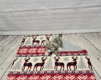 Fleece Cat Blanket - Luxury Cat Blanket - Moose Holiday