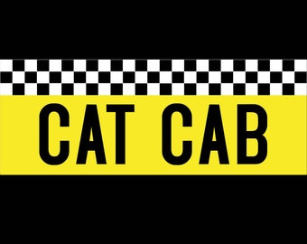 CAT CAB Permanent Vinyl Decal