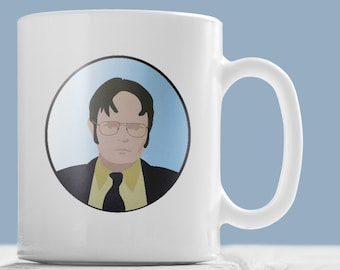 """The Office Mug - Dwight Schrute """"What's my perfect crime""""? quote mug."""