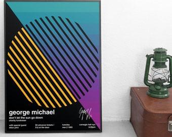 George Michael - Billboard Gig Poster - Carnegie Hall, New York