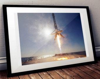 Spacex Felpa con Cappuccio Elon Musk Falcon Tesla Rocket Nasa Regalo Illustrato