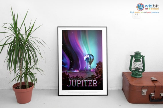 """VISION OF THE FUTURE, NASA VINTAGE REPRODUCTION-JUPITER 1724 -ART PRINT 14/""""x11/"""""""