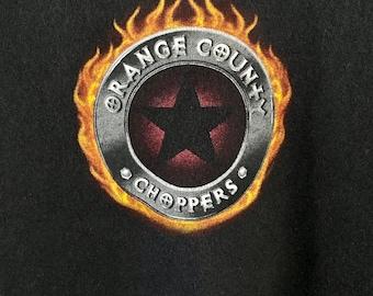 00's Vintage Motorcycle Tee, XL Black, Graphic Biker Shirt, Orange County Choppers, Rare Tshirts, Men's Biker Tee, Gift for Him