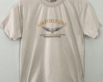 Presidential Air Force One Vintage Tee, Air Force One, Funny Misspelled  Tee, Size S Beige T-shirt, EUC Military T-shirt, Only One Rare Find
