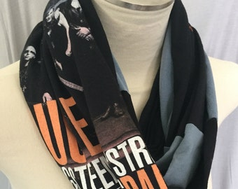 Custom Scarf, Handmade Gift for Her, OOAK From Upcycled T shirt Graphic , Pick Shirt Here Or Send Me One, I'll Make it n send Gift Wrapped