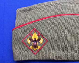 Boy Scout 1960's Garrison Hat Size Extra Large 7 1/4 - 7 3/8 - 7 1/2 Official Vintage  Preowned