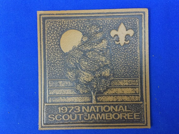Boy Scout Leather Jacket Patch 1973 National Scout