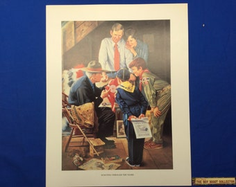 "Boy Scout Print By Joseph Csatari  Scouting Through The Years 11""x14"""