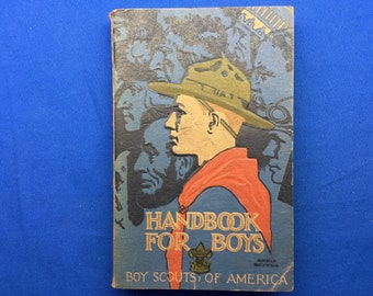 Boy Scout Handbook For Boys June 1931 Printing Norman Rockwell Cover