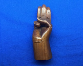 Boy Scout Salute Sign Wooden Hand Carved Scout Sign