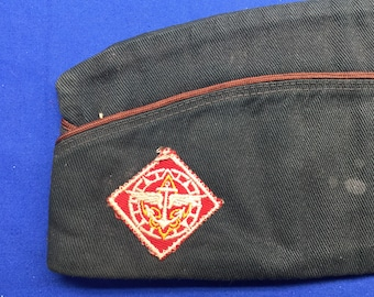 Boy Scout 1950's Explorer Garrison Hat Size Large  Official Vintage  Preowned
