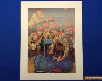 "Boy Scout Print By Joseph Csatari  The Patrol Leader 11""x14"""