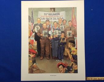 "Boy Scout Print By Joseph Csatari  The Reunion 11""x14"""