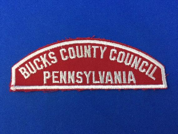 Boy Scout Bucks County Council Red/White Strip Sho
