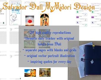 Salvador Dali My Midori INSTANT DOWNLOAD My Midori Design