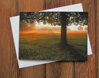 Landscape Greetings card C5 - Dawn