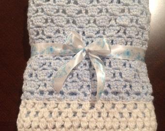 Super Soft Crochet Baby Blanket, 26x30