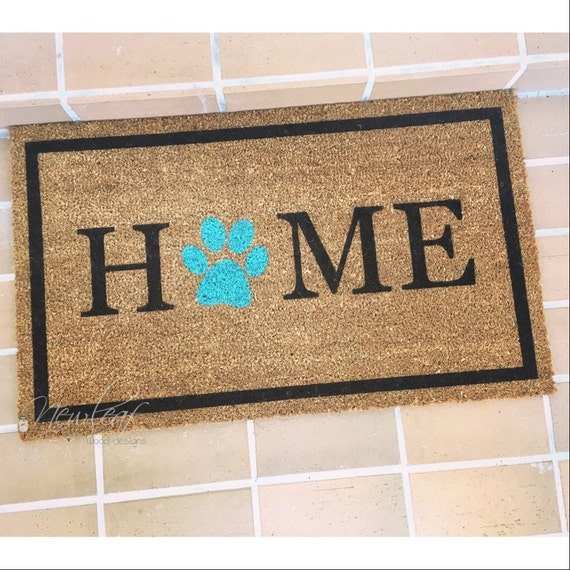 Home Doormat Paw Print Doormat Dog Lover Gift | Etsy