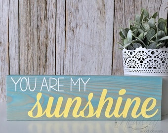 You Are My Sunshine - Sunshine Sign - You Are My Sunshine Sign - Sunshine Wall Art - Happy Sign - Mini Sign - Wood Signs - Gallery Wall Art