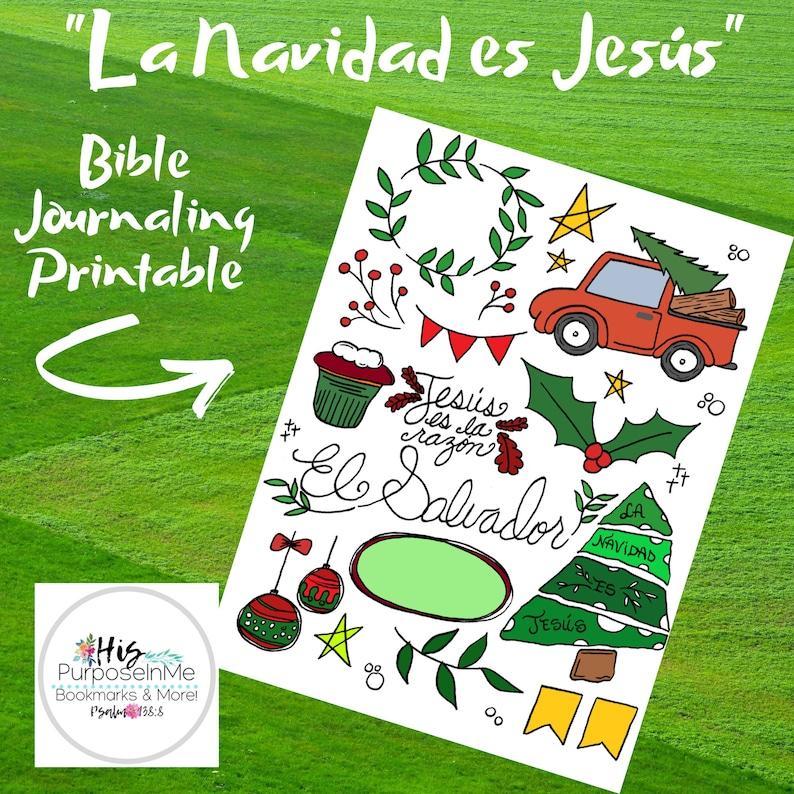 La Navidad es Jesus  Spanish Bible Journaling  Printable  image 0
