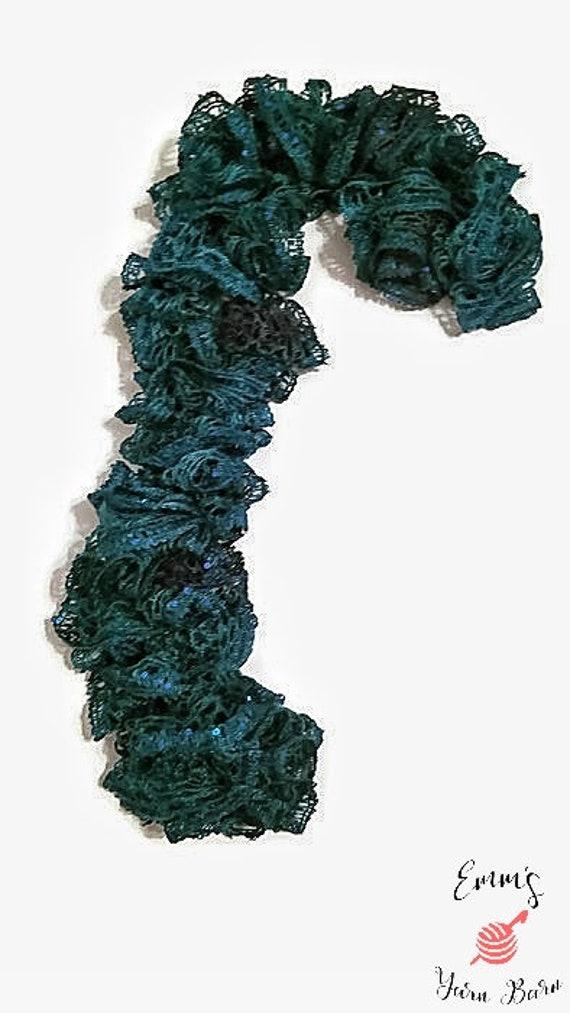 Blau grün Rüschen Schal Schal Schals und Wraps Zubehör | Etsy