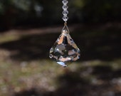 Car Window Art - 30mm Swarovski Clear Faceted Diamond with Beads by Crystal Cove Gifts